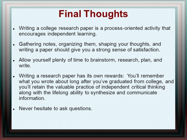 014 Research Paper Writing Process Ppt How Outstanding To Publish Write Abstract For Prepare 728