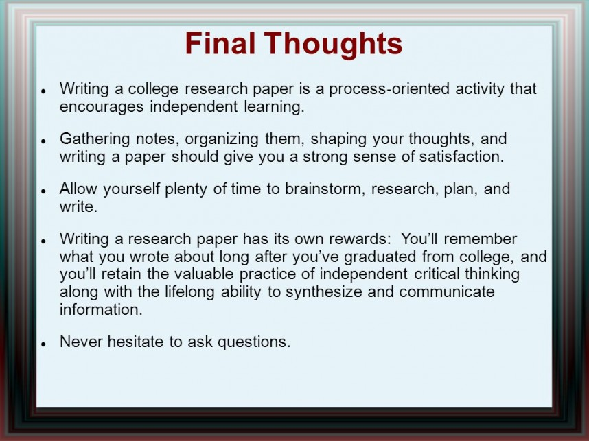 014 Research Paper Writing Process Ppt How Outstanding To Publish Write Abstract For Prepare 868