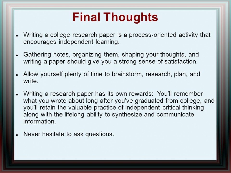 014 Research Paper Writing Process Ppt How Outstanding To Publish Write Abstract For Prepare 960