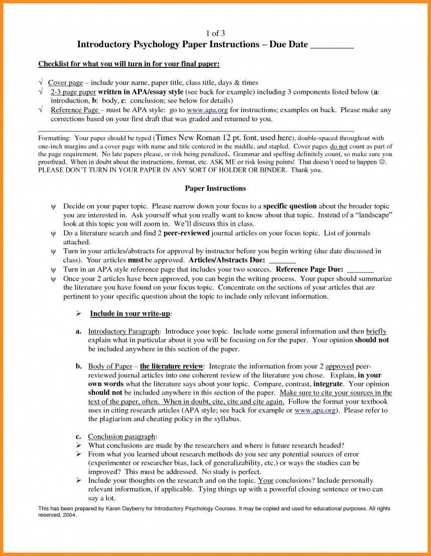 015 Apa Research Paper Example Conclusion Examples For Papers And Forms Throughout Outstanding 2018