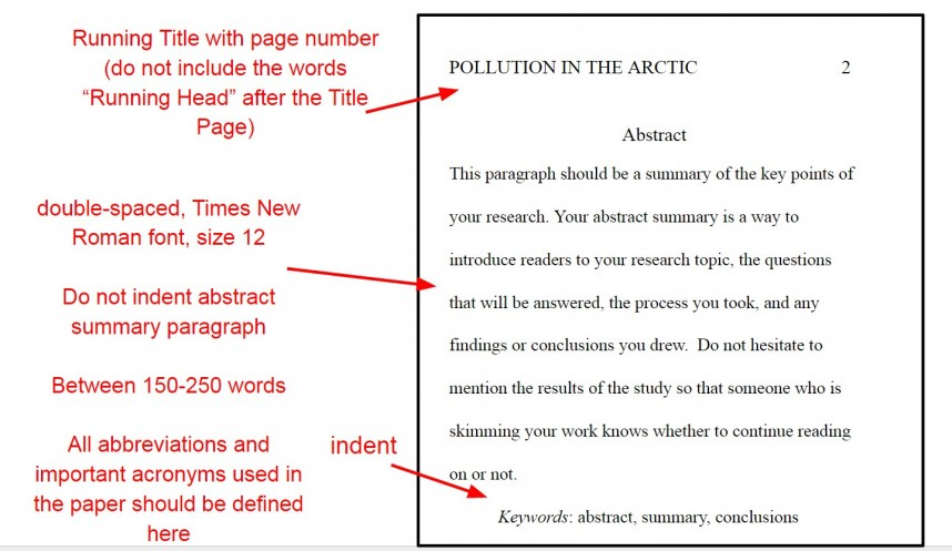 015 Apaabstractyo Format For Research Paper Apa Top A Style Example Of An Abstract In