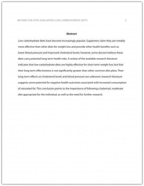 015 Biology Research Paper Outline Impressive How To Write A 480
