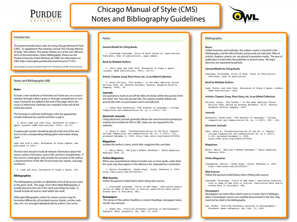 015 Chicago Manual Of Style Research Paper In Text Citation Wondrous Sample 960