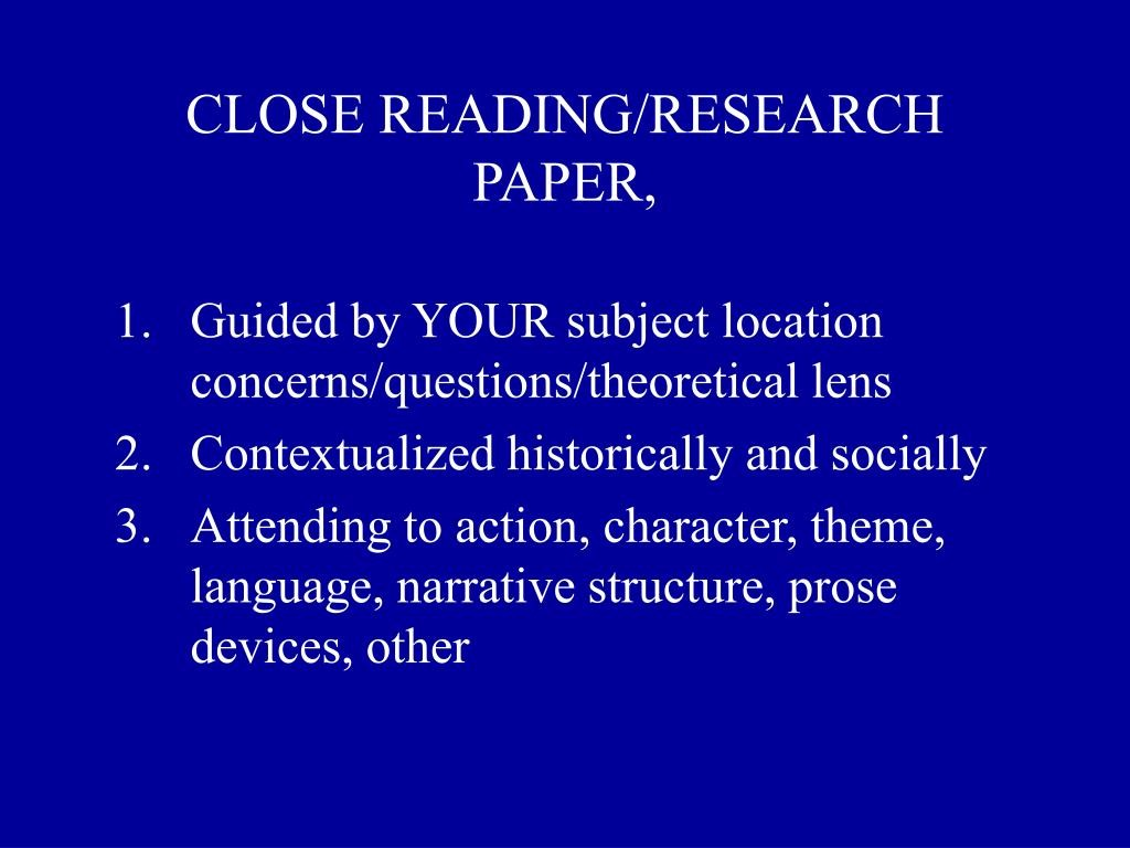 015 Close Reading Research Paper L How To Outstanding Ppt Publish Write Abstract For Prepare Large
