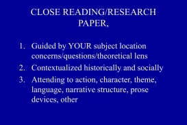 015 Close Reading Research Paper L How To Outstanding Ppt Publish Write Abstract For Prepare 320