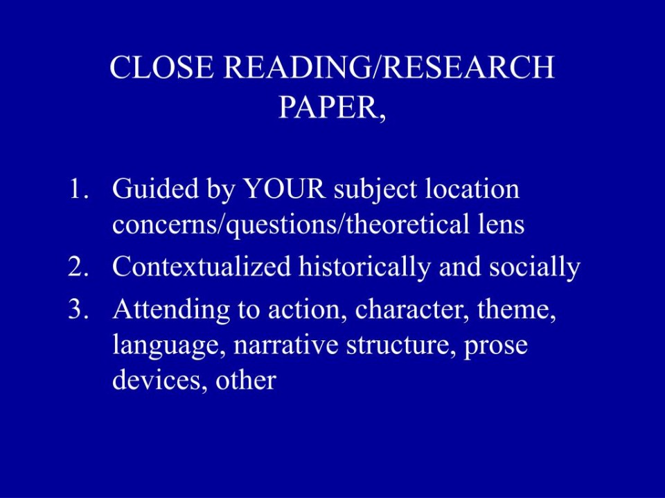 015 Close Reading Research Paper L How To Outstanding Ppt Publish Write Abstract For Prepare 960