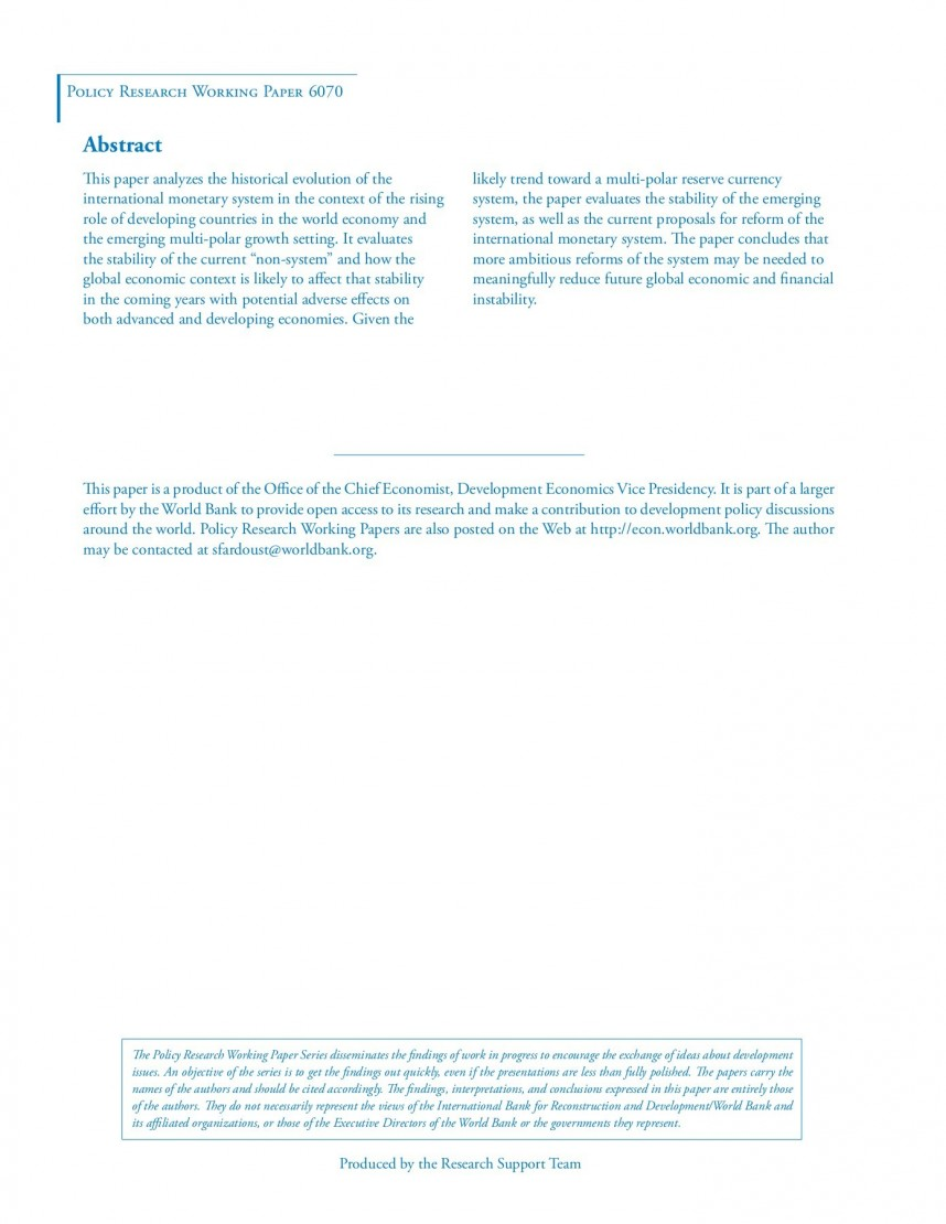 015 Economic Research Papers Topics Paper Formidable Good For Pdf