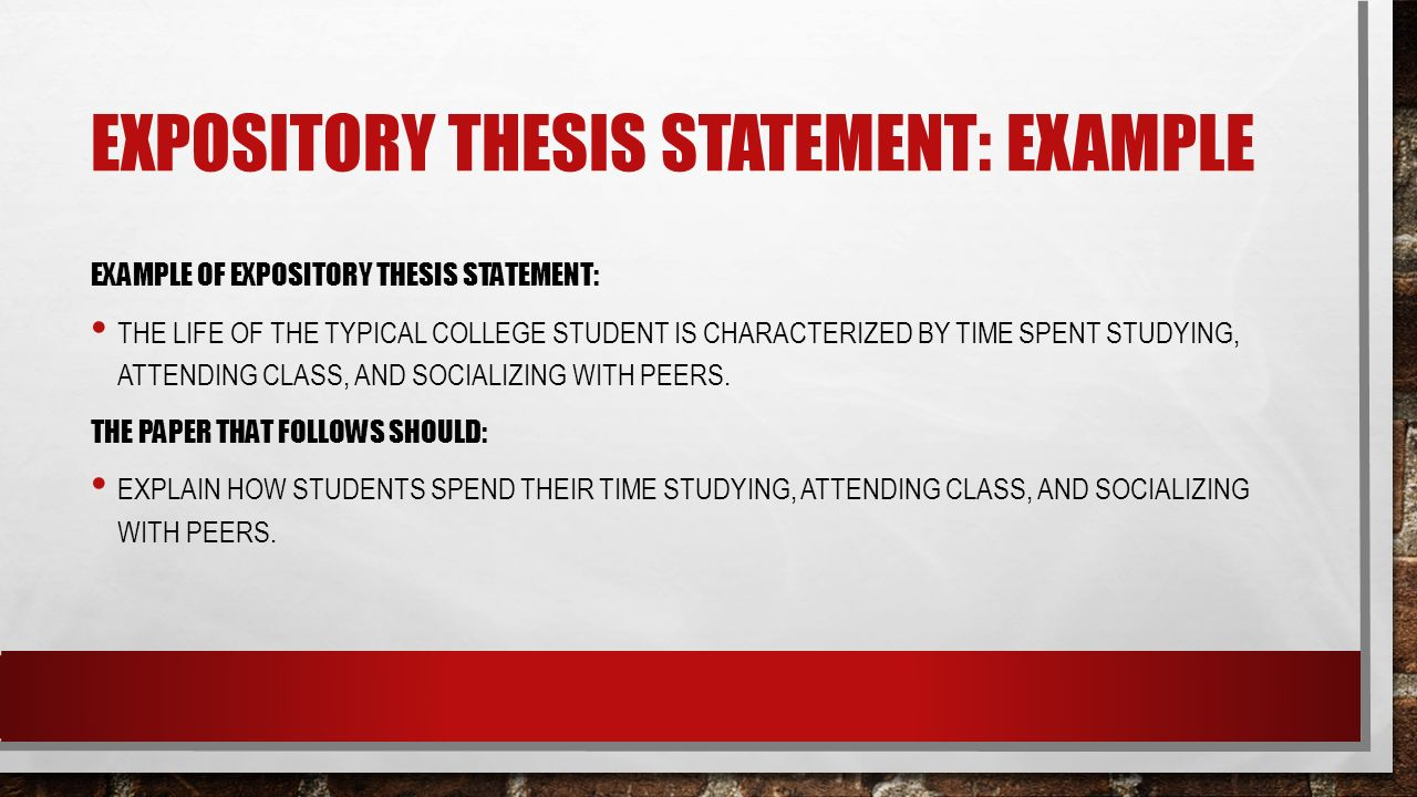 research paper expository thesis statement examples