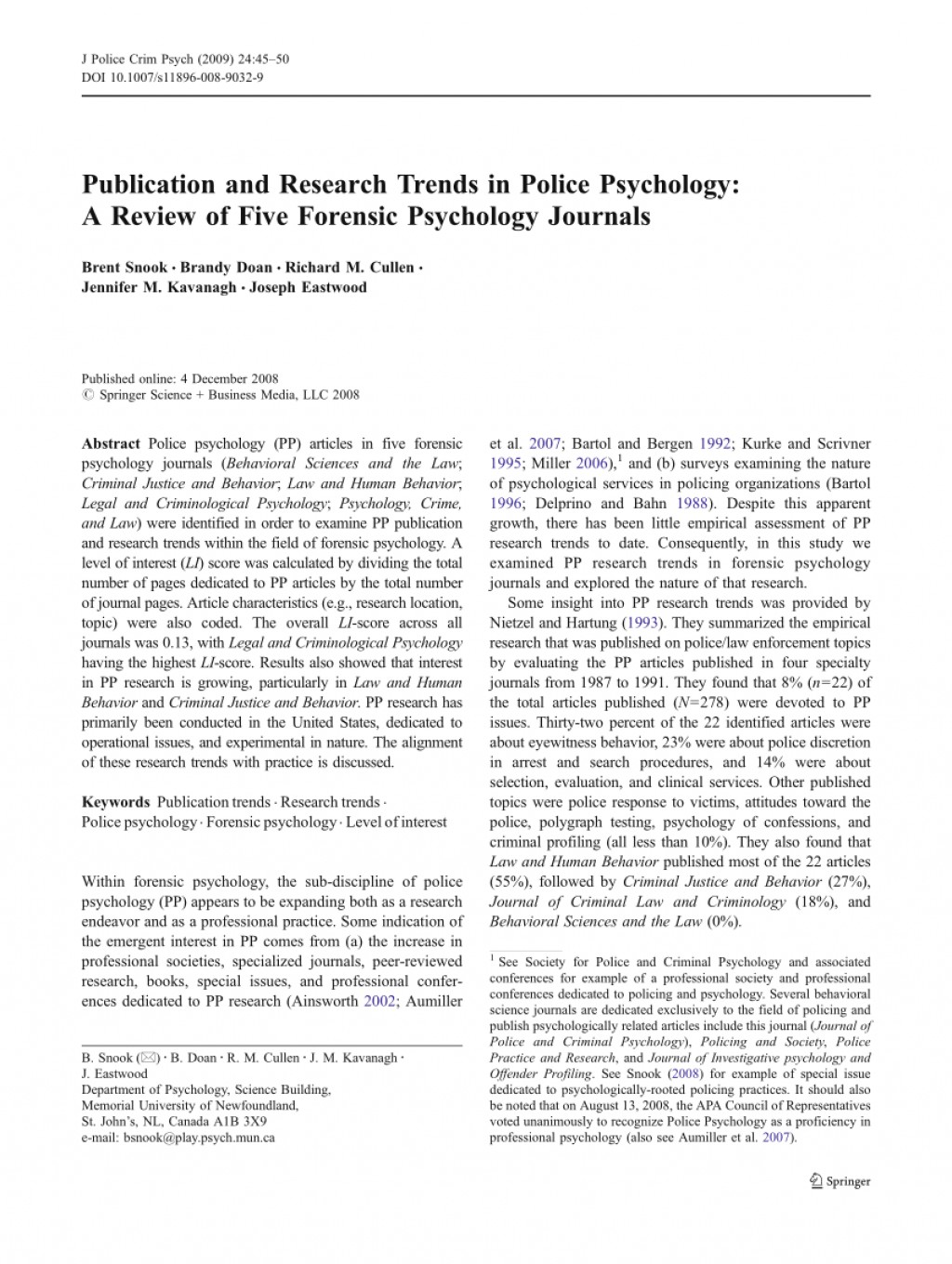 015 Forensic Psychology Topics For Research Paper Unique Large