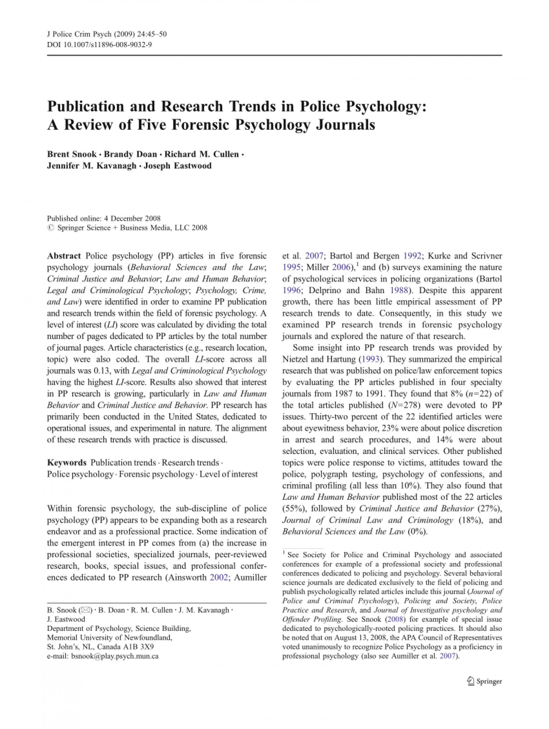 015 Forensic Psychology Topics For Research Paper Unique 1920