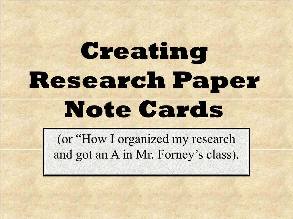 015 Formatting Notecards For Research Papers Paper Creating Note Cards Fascinating Full