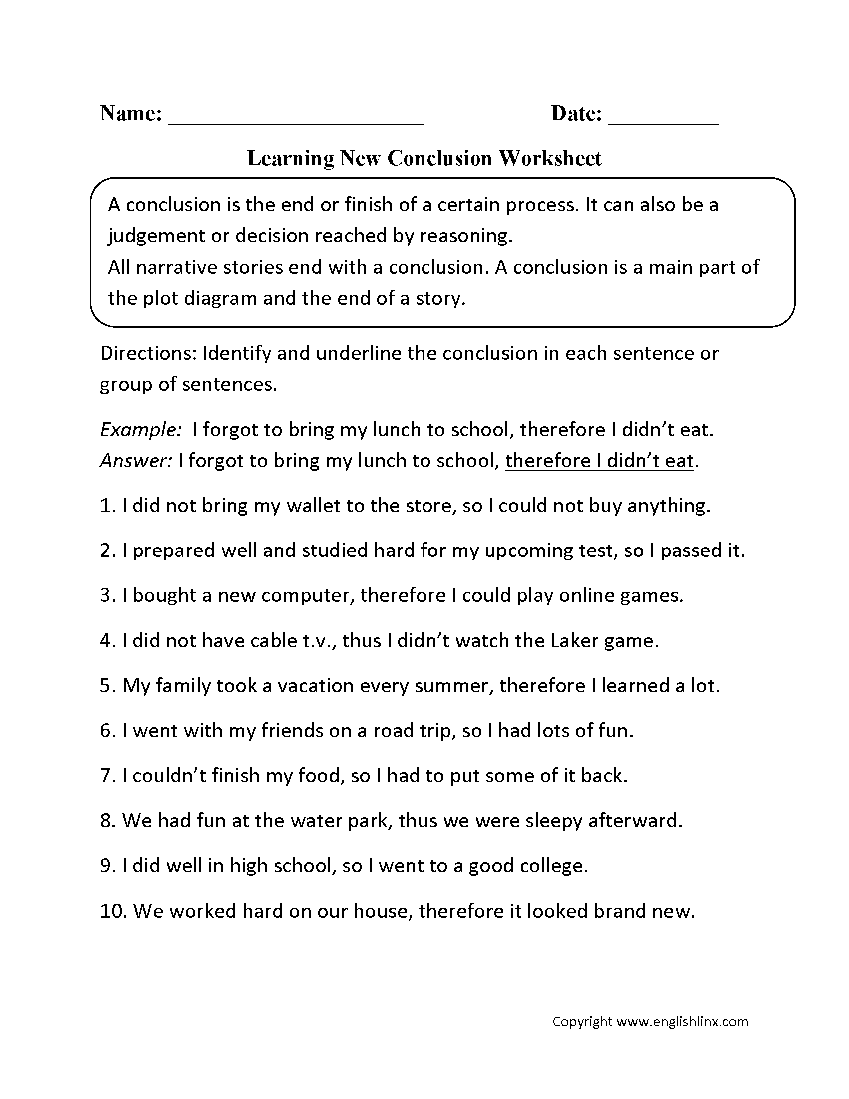 015 How To Write Conclusion For Project Learning New