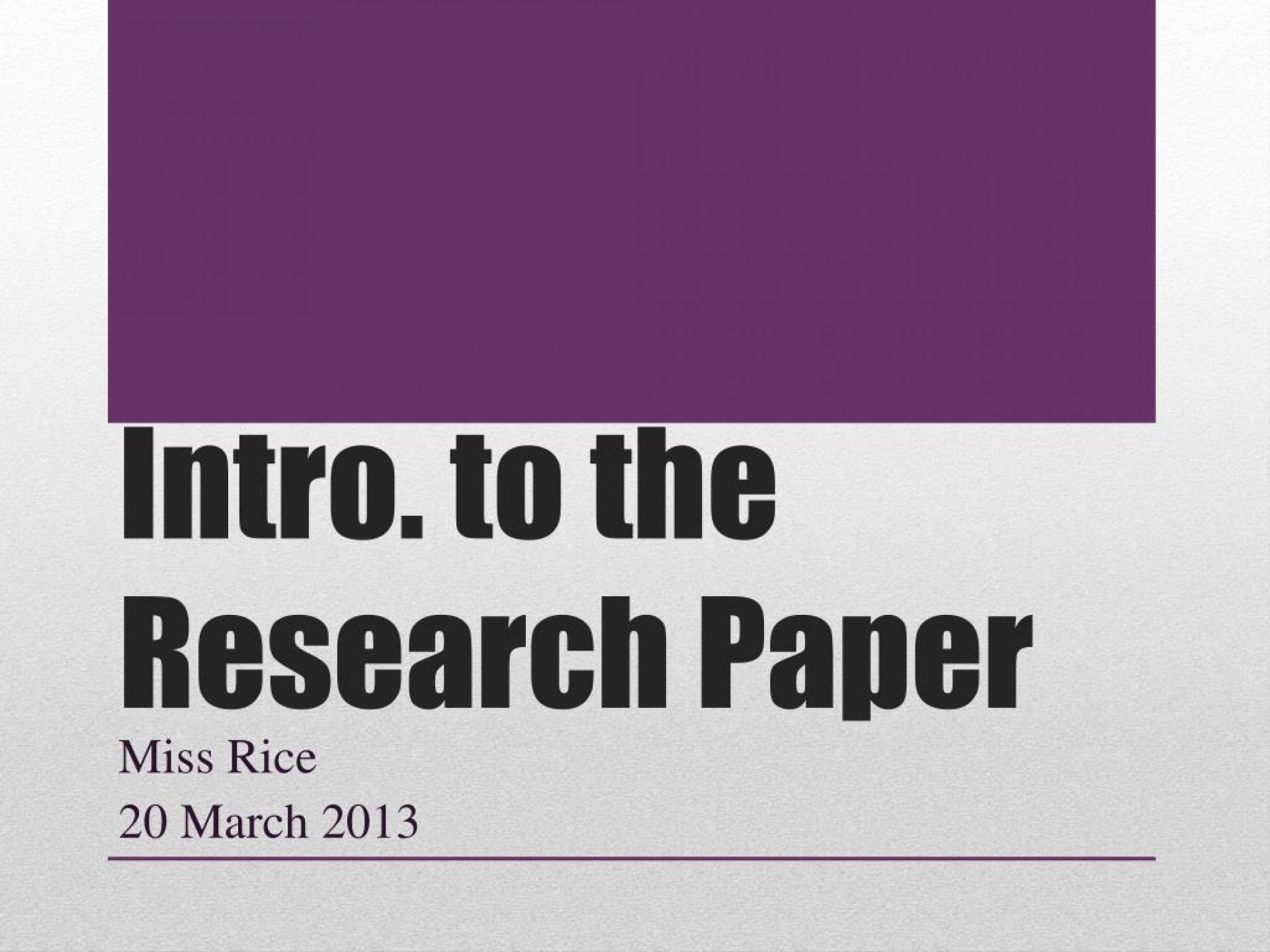 015 Introduction To Research Paper Ppt Intro The Outstanding How Write In An For A Powerpoint 1920