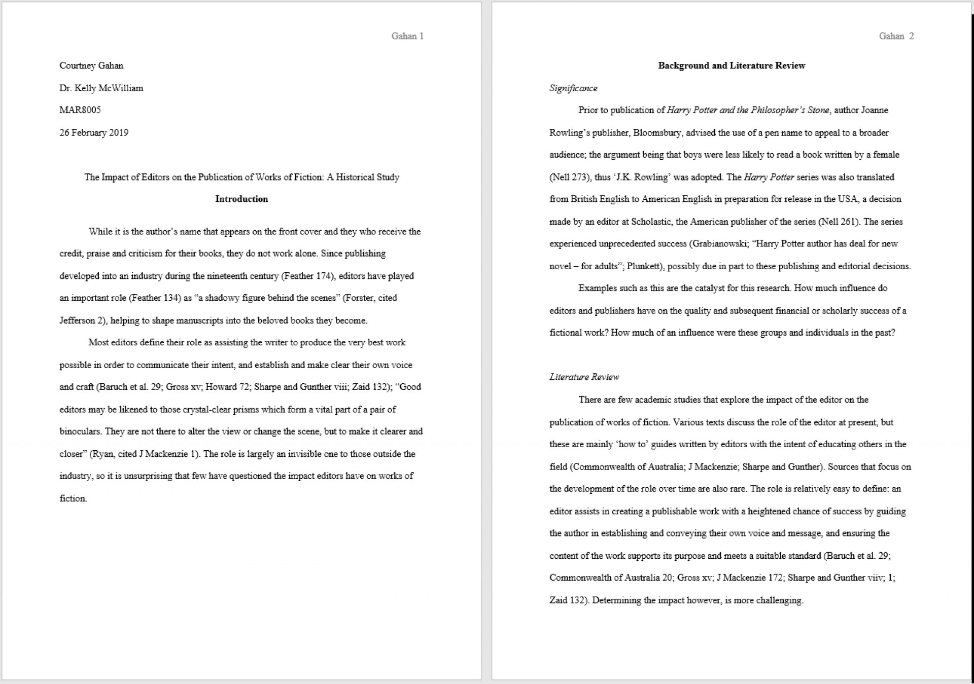 015 Mla Research Paper Citation Format Imposing In Text 1920