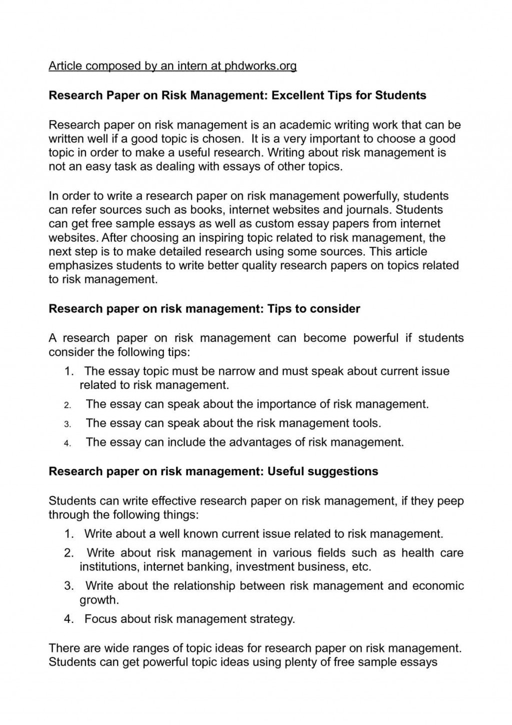 015 P1 Research Paper In Economics Stupendous Topics Finance Business International Large