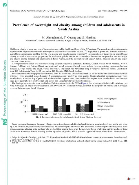 015 Primary Research Article On Childhood Obesity Paper Firstpage Imposing 480