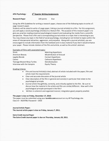 015 Psychology Research Paper Outline Apa Template Beautiful New Examples Papers Format Survivalbooks Best 360