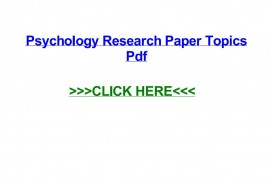 015 Psychology Research Paper Topics Pdf Page 1 Best 320