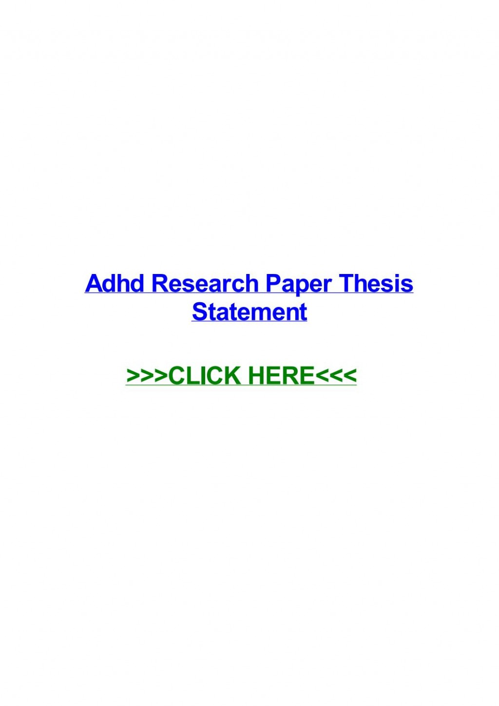 015 Research Paper Adhd Thesis Page 1 Formidable Statement Large