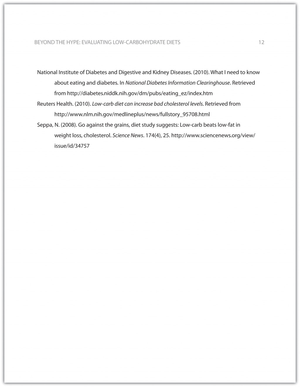 015 Research Paper Apa Format Reference Unique Page List Large