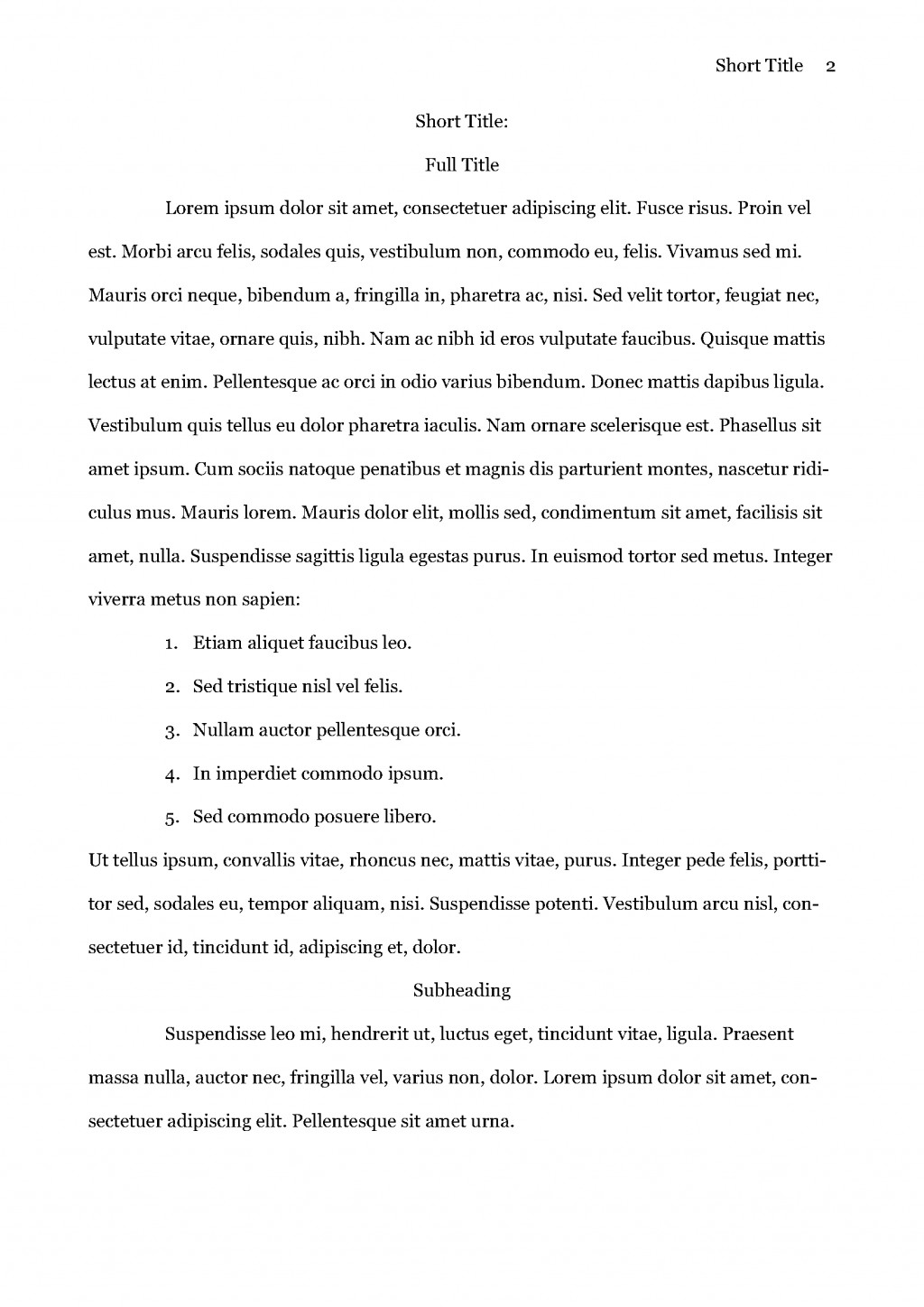 015 Research Paper Apa Sample Page 2 Wonderful Format How To Write A In 6th Edition Example Large