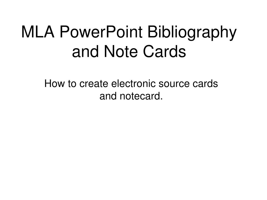 015 Research Paper Example Of Notecards For Mla Powerpoint Bibliography And Note Cards Fascinating How To Write A Writing Large