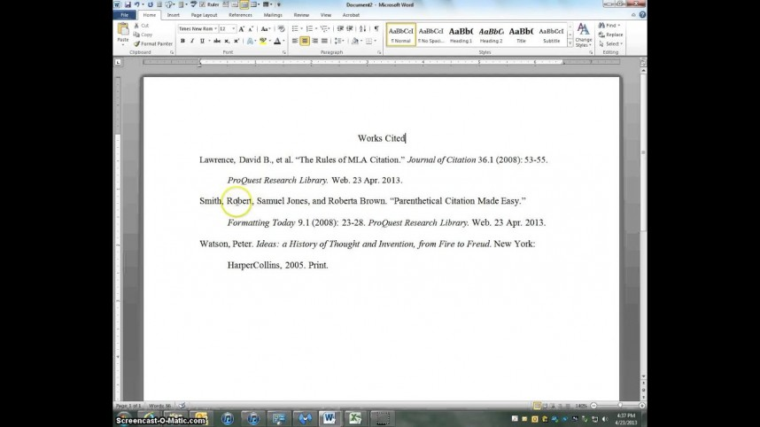 015 Research Paper How To Put Citations In Mla Fascinating A Cite References Source Format