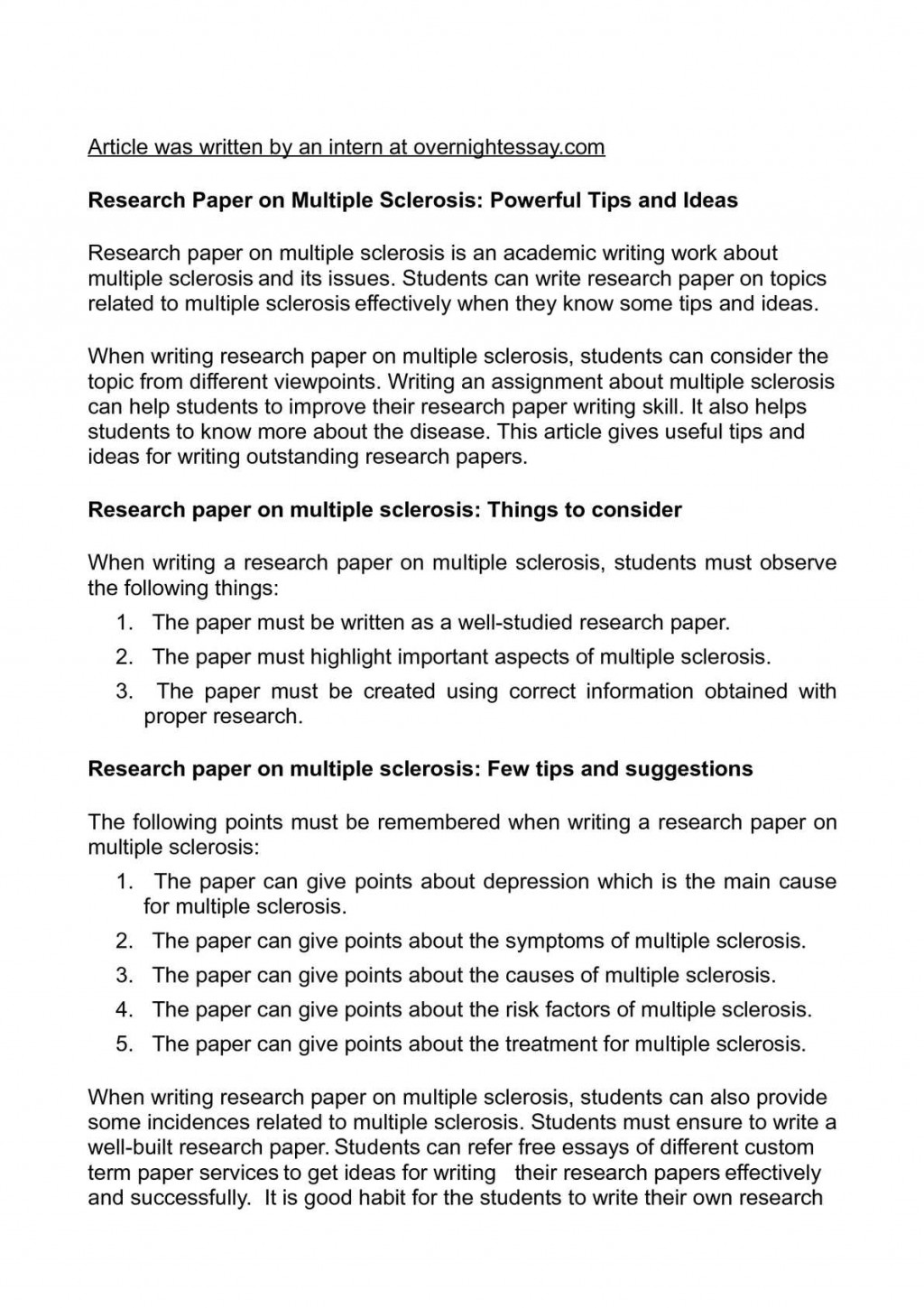 015 Research Paper How To Write Breathtaking Objectives An Abstract For English A Conclusion Apa Large