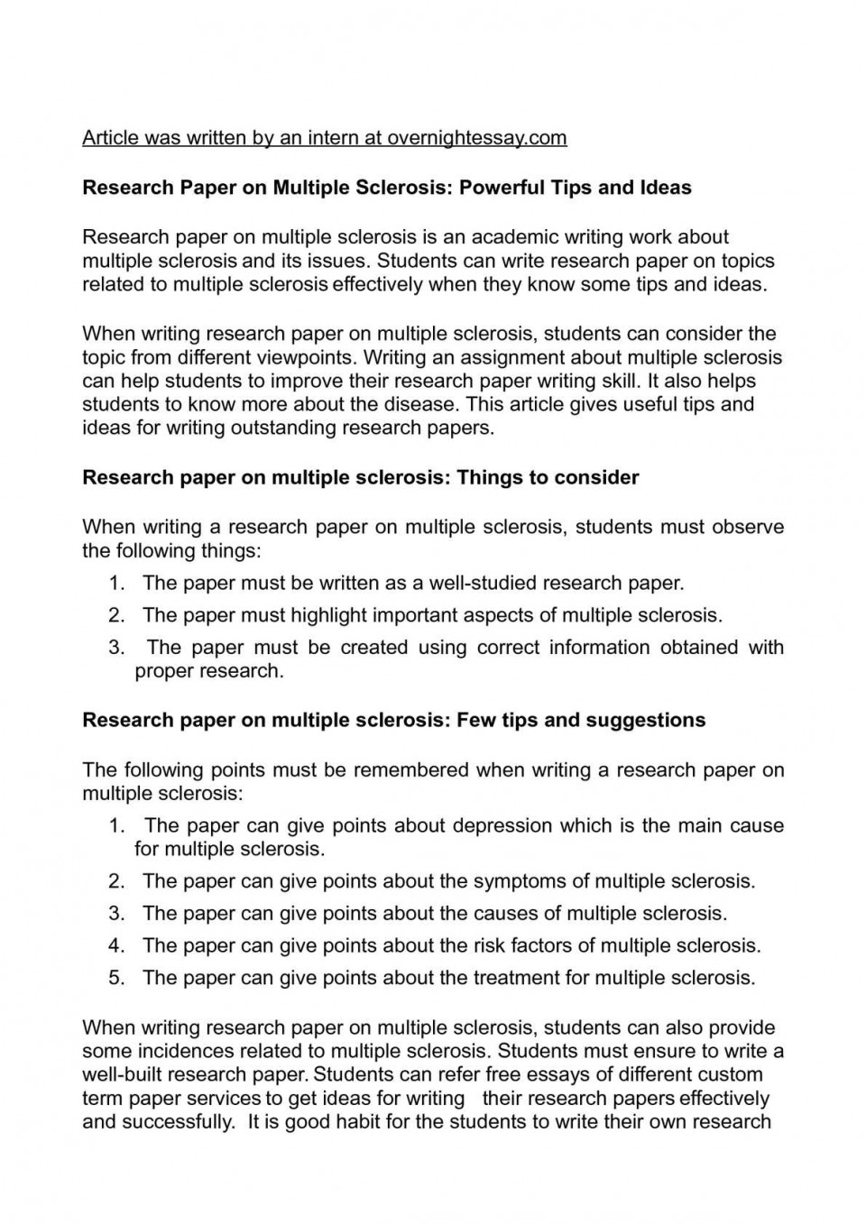 015 Research Paper How To Write Breathtaking Objectives An Abstract For English A Conclusion Apa 960