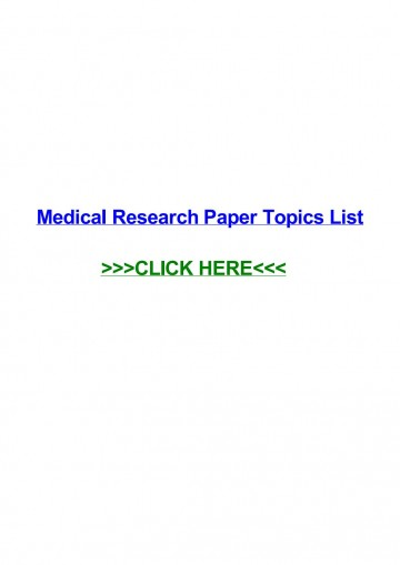 015 Research Paper Medical Topics Page 1 Stupendous For High School Students College 360