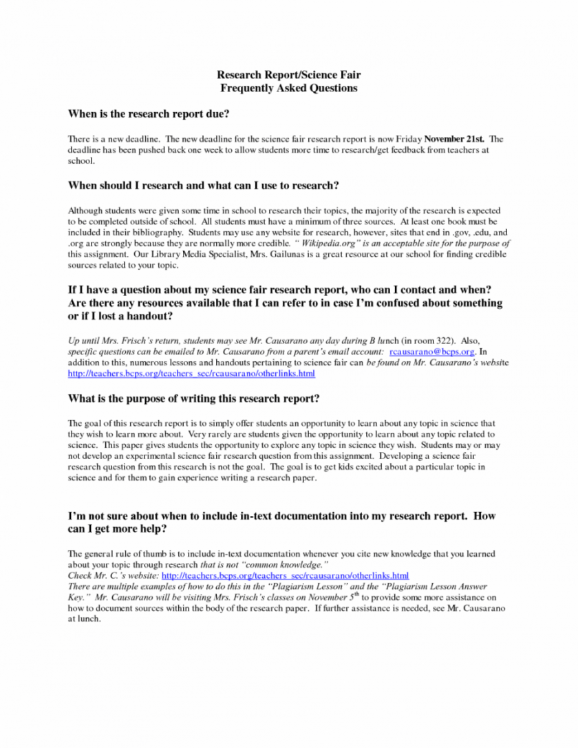 015 Research Paper Middle School Science Fair Template Help With Papers Frightening Full