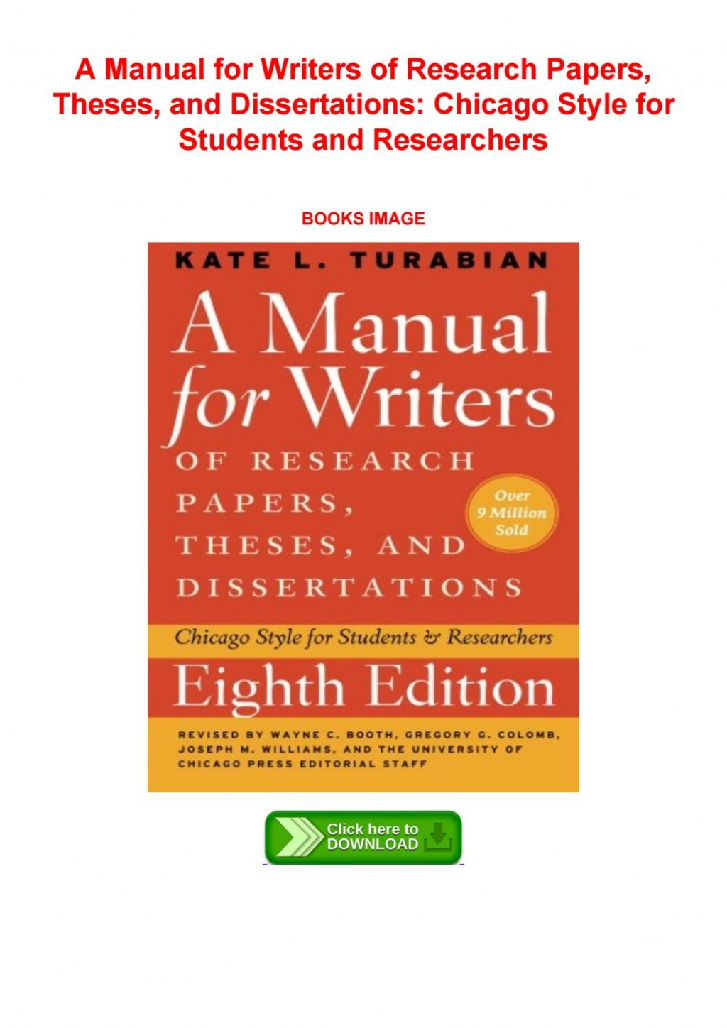 015 Research Paper Page 1 Manual For Writers Of Papers Theses And Dissertations 8th Staggering A Edition Pdf Large