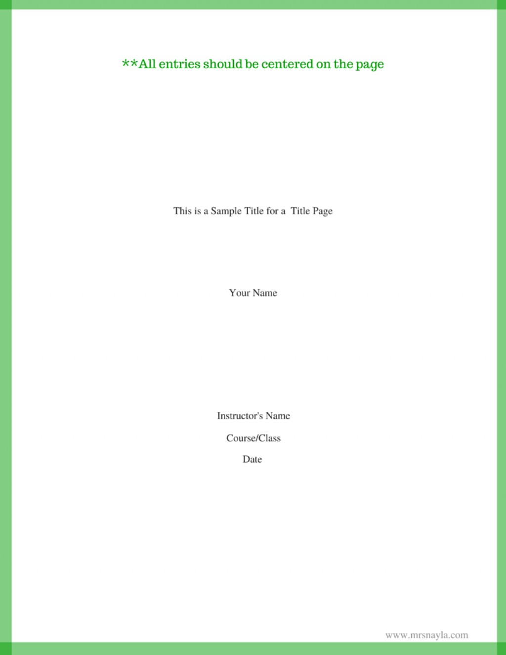 015 Research Paper This Is Sample Title For Page1 Mla Format Cover Page Unique Example Large