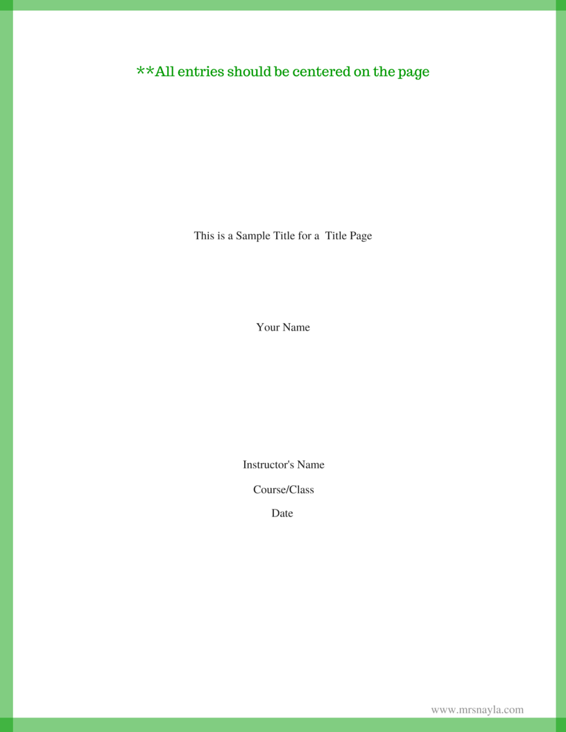 015 Research Paper This Is Sample Title For Page1 Mla Format Cover Page Unique Example Full