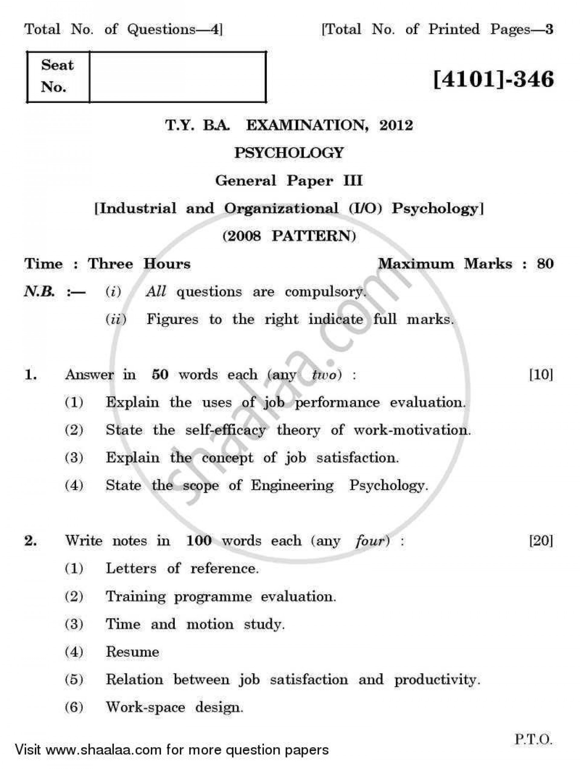 015 Research Papers For Psychology Paper University Of Pune Bachelor General Industrial Organizational Tyba 3rd Year 2011 2423148fb186f44d8a12cf9 Fascinating Topics Educational Types 1920