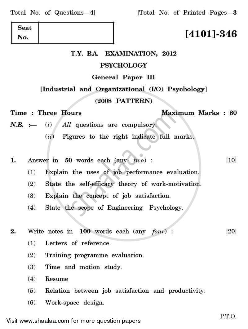 015 Research Papers For Psychology Paper University Of Pune Bachelor General Industrial Organizational Tyba 3rd Year 2011 2423148fb186f44d8a12cf9 Fascinating Topics Educational Types Full