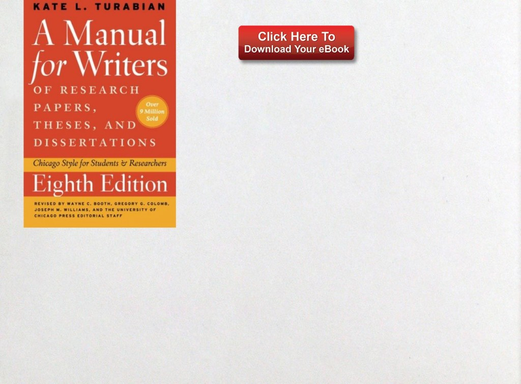 015 Source Research Paper Manual For Writers Of Papers Theses And Dissertations Fearsome A Ed 8 Large