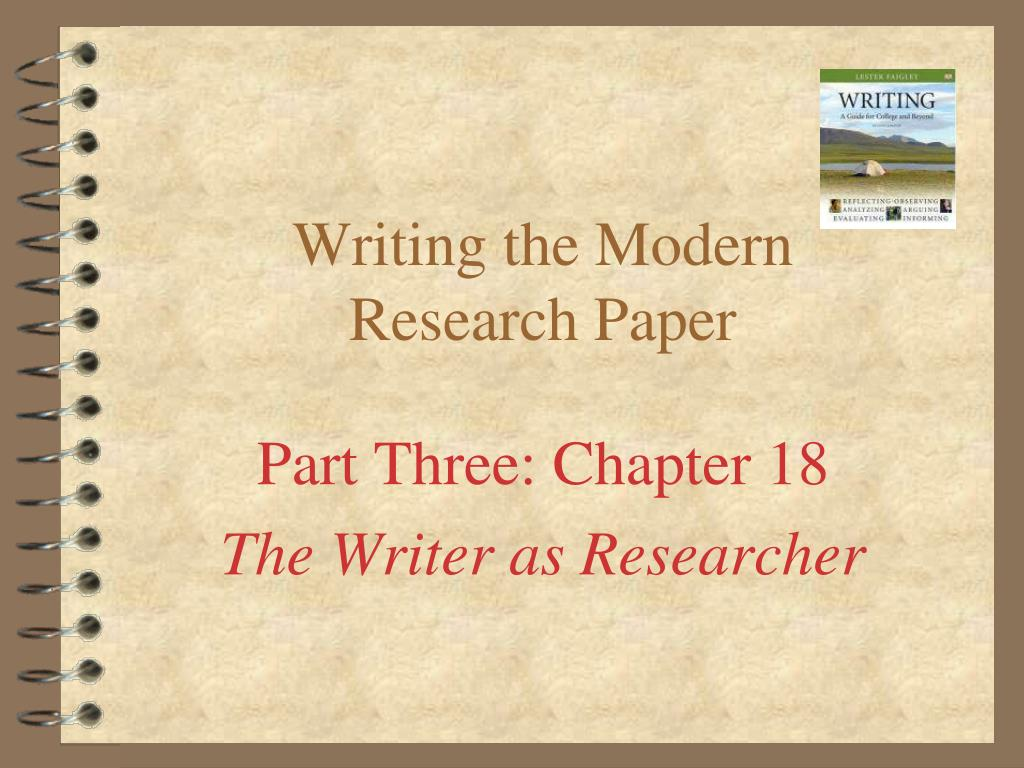 015 Writing The Modern Research Paper L How To Make Staggering Ppt Prepare A Powerpoint Presentation Full