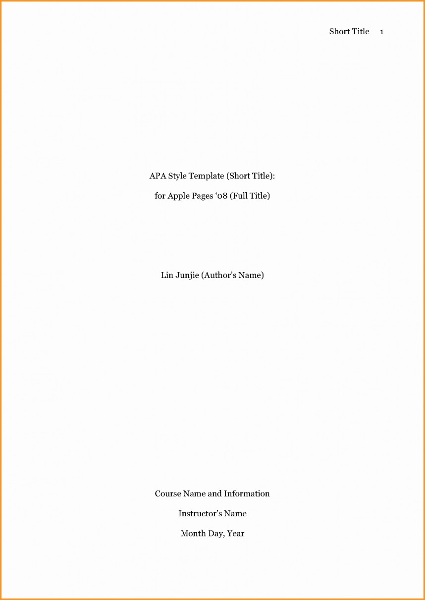 016 Apa Research Paper Format Cover Page Fresh Sample Titles Bamboodownunder Fearsome Style Reference