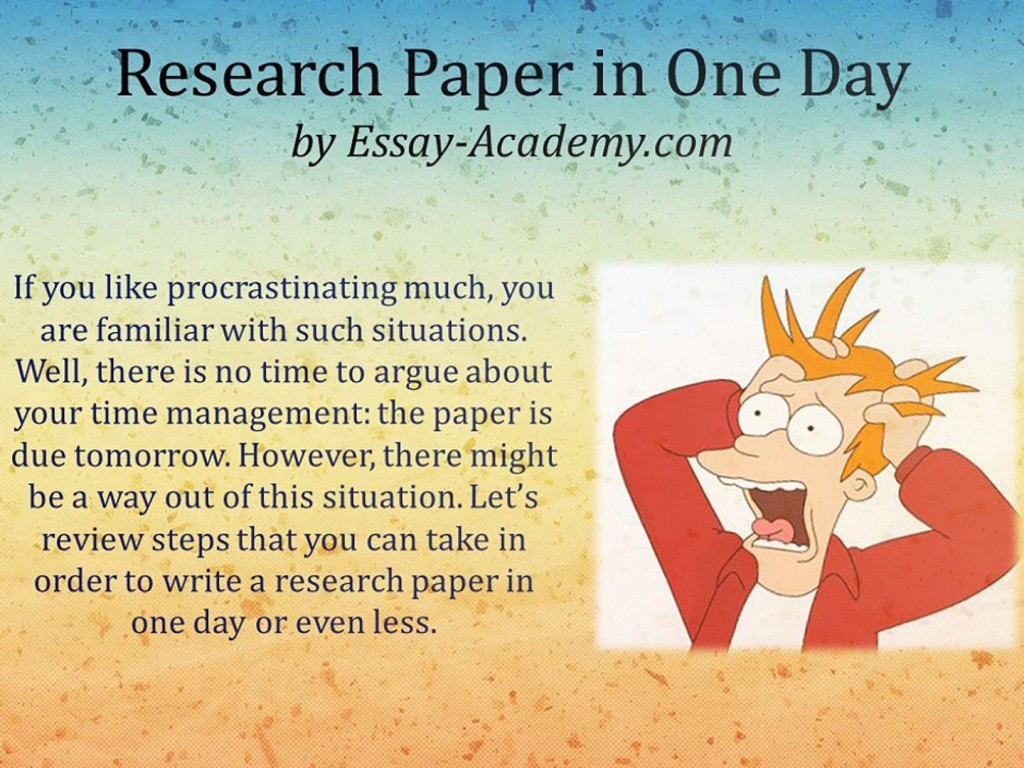 016 Can I Write Research Paper In One Day X1080 Fascinating A 6 Page Large