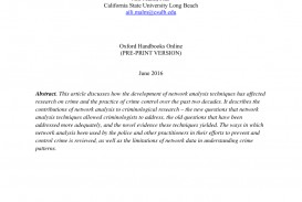 016 Criminal Justice Research Papers Free Paper Unforgettable