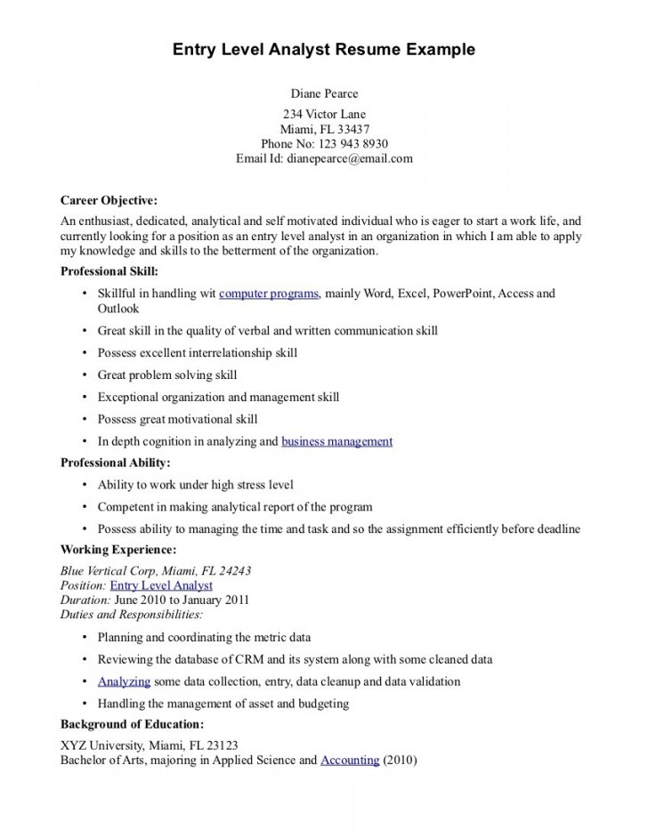 016 Cyber Security Research Paper Example Entry Level Resume Objective Examples Dreaded 728