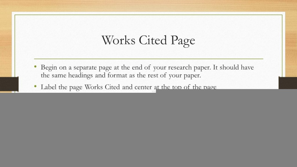 016 Do Works Cited Page Research Paper Slide 16 Unique Examples Mla Format Large