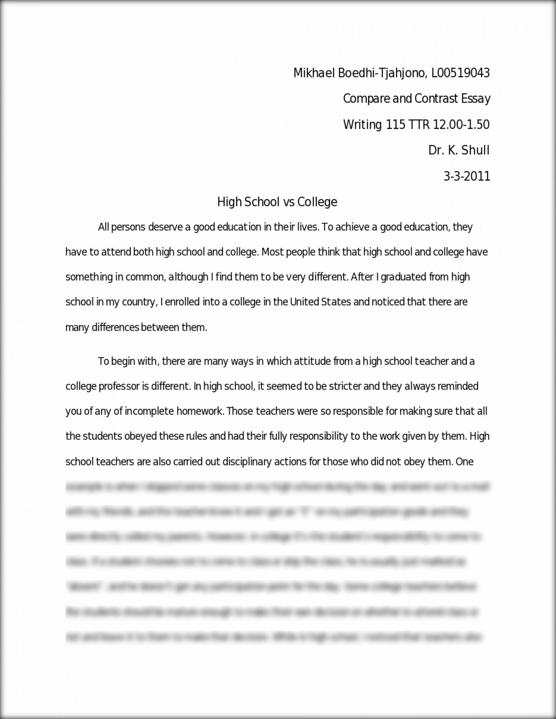 Healthy Mind In A Healthy Body Essay  College Essay Paper Format also The Importance Of English Essay  Research Paper Example Thesis Statement For  Thesis For Compare Contrast Essay