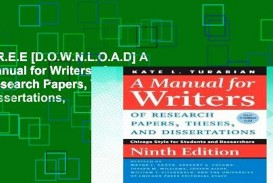 016 Manual For Writers Of Research Papers Theses And Dissertations Paper X1080 Sensational A 8th Edition Pdf Eighth
