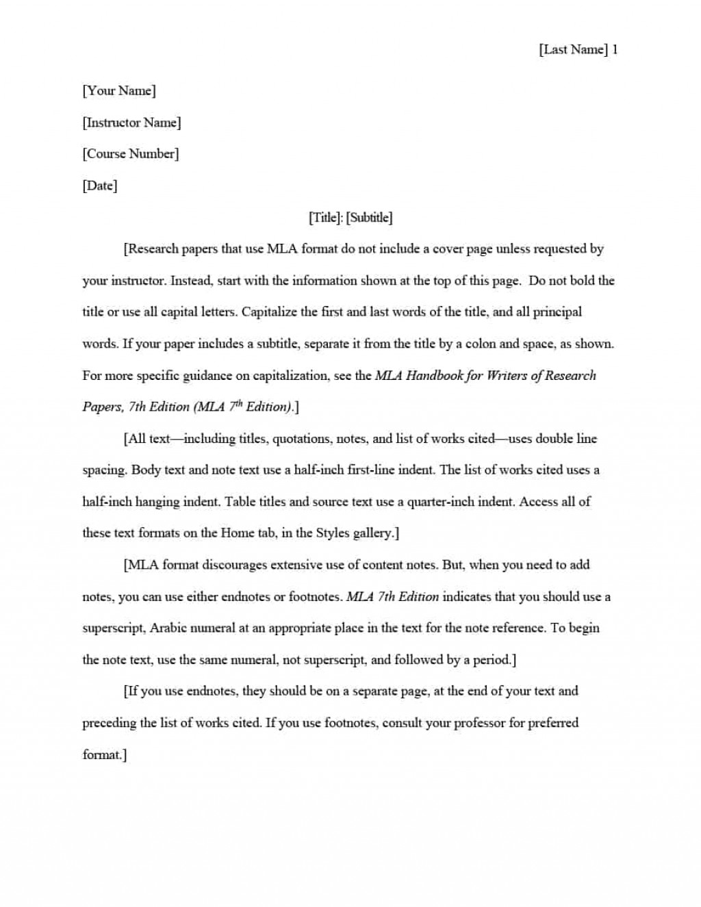 016 Mla Format Research Paper In Text Citations Template Wonderful Large