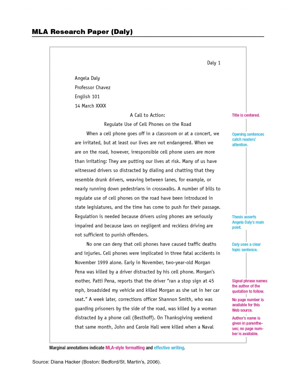 016 Mla Research Paper Citing Brilliant Ideas Of What Is Format