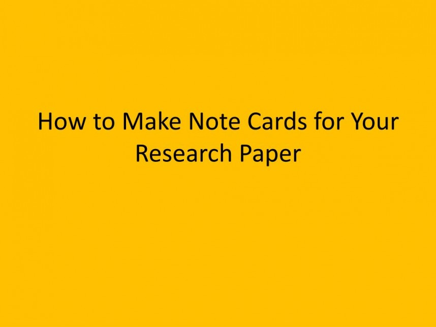 016 Note Cards Research Paper How To Make For Your Wonderful Mla Format Online