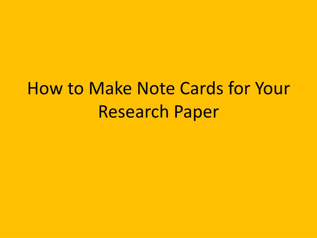 016 Note Cards Research Paper How To Make For Your Wonderful Apa Format Examples A Card Full