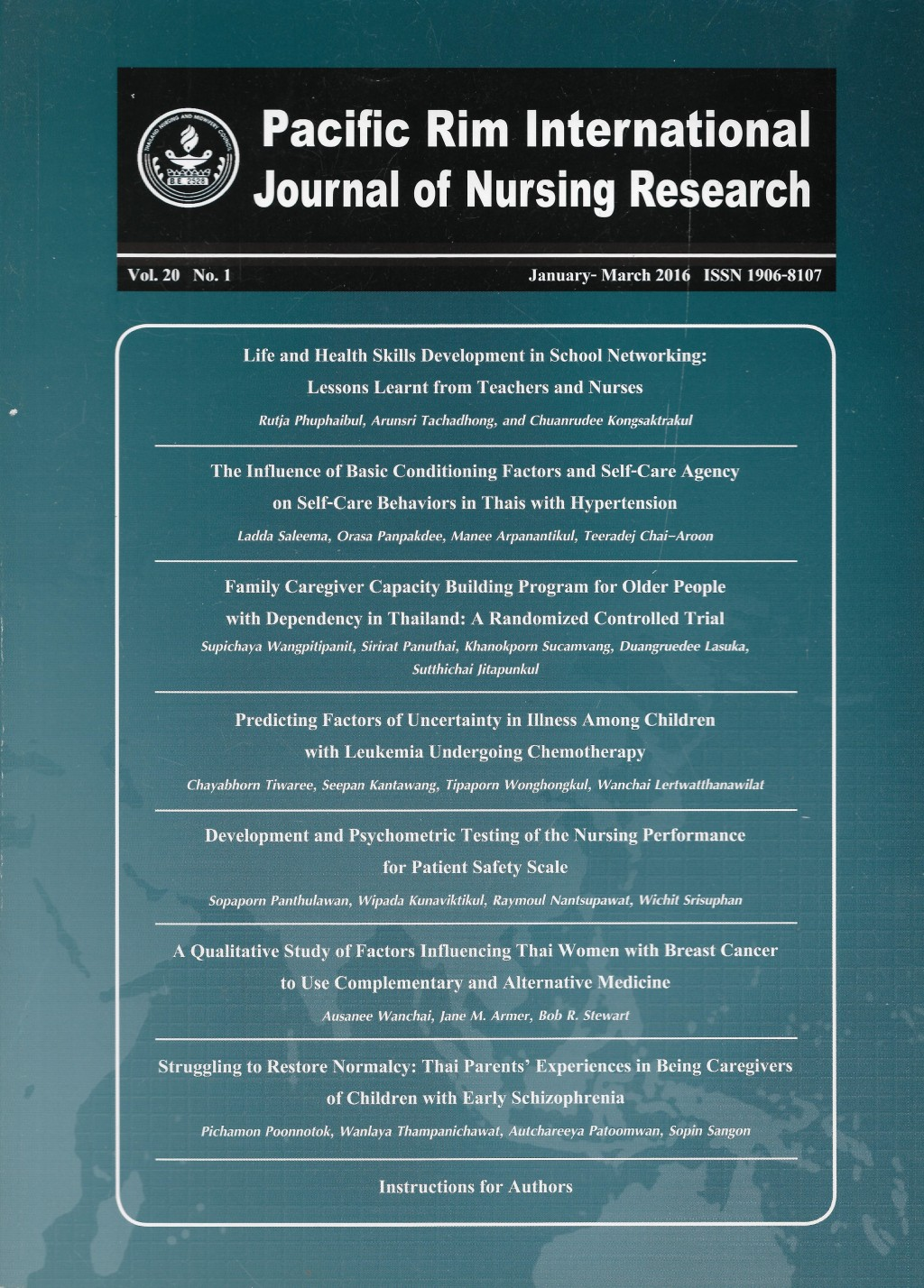 012 Nursing Research Articles On Schizophrenia Paper Cover